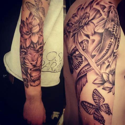 koi tiger tattoo koi tiger lotus and butterfly tattoo tattoo