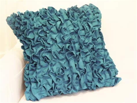 ruffled pillow sham 17x17 by metzinteriors on etsy