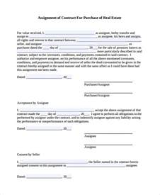 Assignment Template by Sle Assignment Of Contract 6 Free Documents