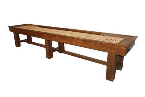 ponderosa oak 12 foot shuffleboard table mcclure tables