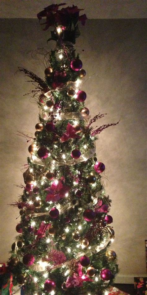 how to decorate a 9ft tree 7 foot slim tree santa baby trees trees and slim