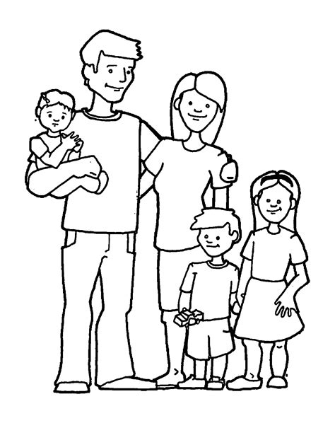 Coloring Pages Of A Family coloring page of a family coloring home
