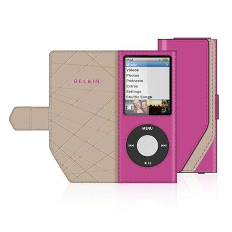 Belkins Folio Ipod Nano With Mirror by Belkin Leather Folio For 4th Ipod Nano Iphone 5