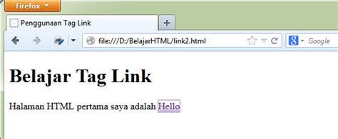 bagaimana cara membuat link di html belajar html dasar cara membuat link di html tag a