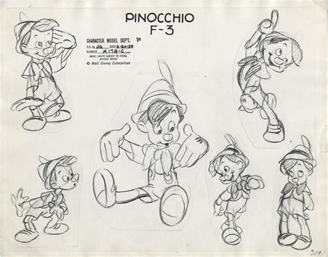 animation from concept to production books past creative disney pinocchio animation model sheet