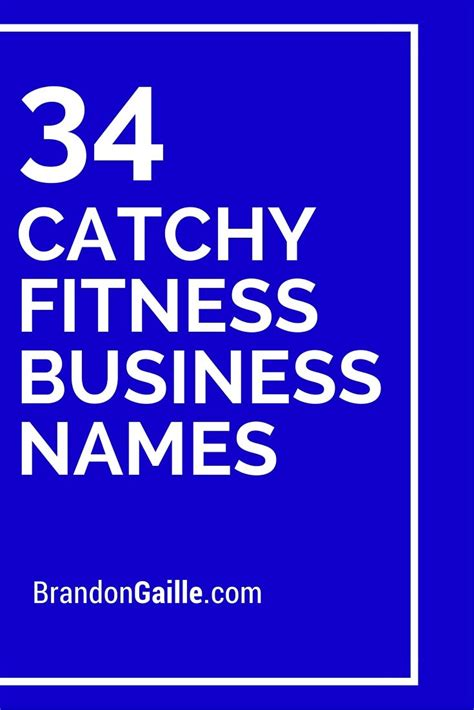 cool  catchy fitness business names fitness