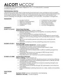 Brand Manager Resume Sample marketing resume examples marketing sample resumes