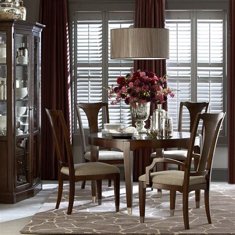 bassett dining room furniture cosmopolitan round dining table by bassett furniture