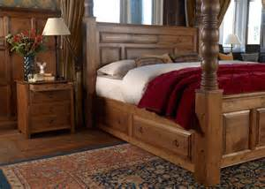 Wood Canopy Bed Frame Large Four Poster Bed Ambassador
