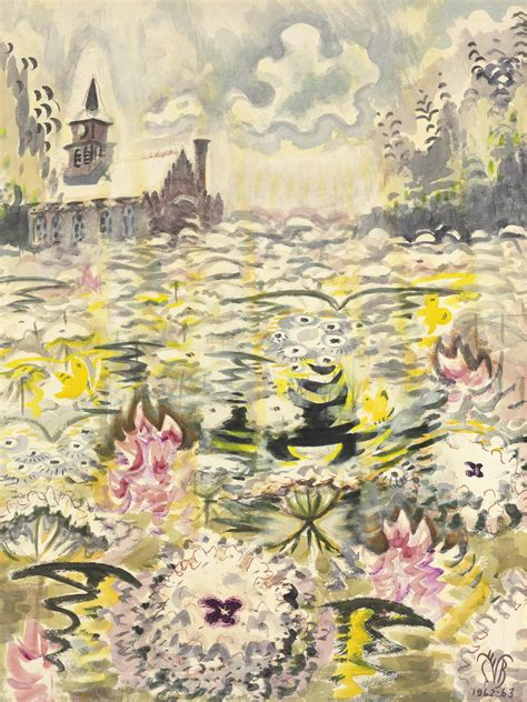 J S Painting Utica Ny by Charles Ephraim Burchfield 1893 1967 A Sea Of