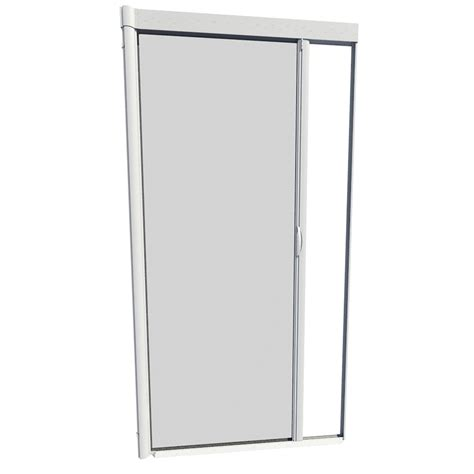 Larson Door Retractable Screen Replacement shop larson 48 in x 91 in white retractable screen door at lowes
