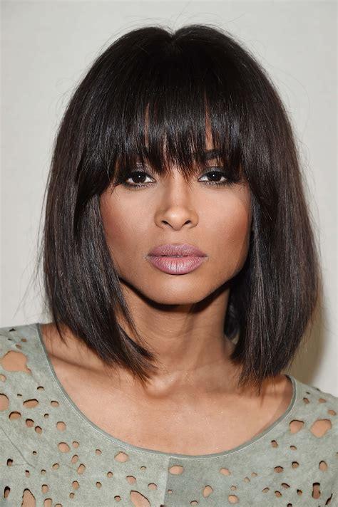blunt fringe hairstyles celebrities who rocked a blunt fringe brilliantly