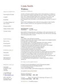 Waitress Resume Exles by Waiter Resume New Calendar Template Site