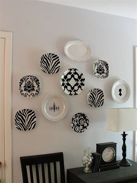plates as wall decor cool plates diy wall