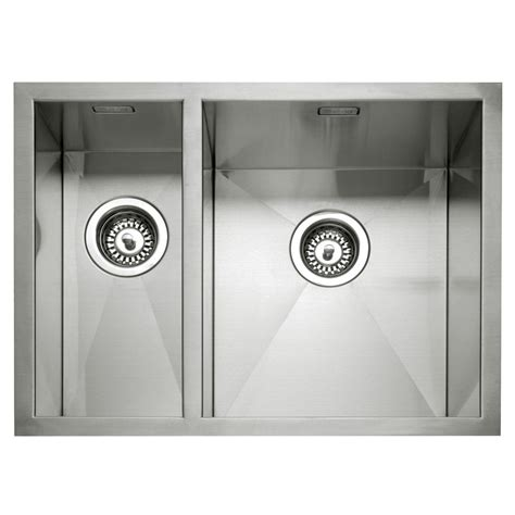 inset stainless steel kitchen sinks caple zero 150 stainless steel inset or undermount 1 5