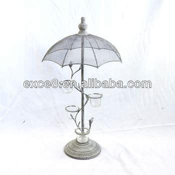 Vintage Garden French Umbrella Tree Votive Candle Holder Patio Umbrella Candle Holder
