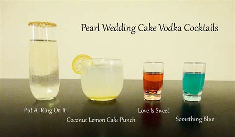 celebratory drinks with wedding cake vodka liquid