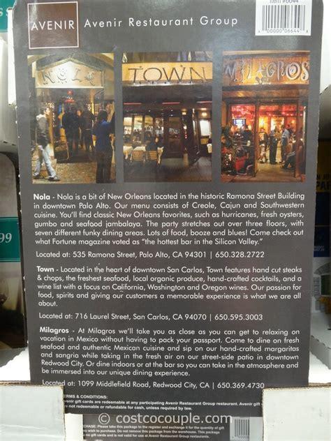 New Orleans Restaurant Gift Cards - avenir restaurant group nola town milagros discount gift card