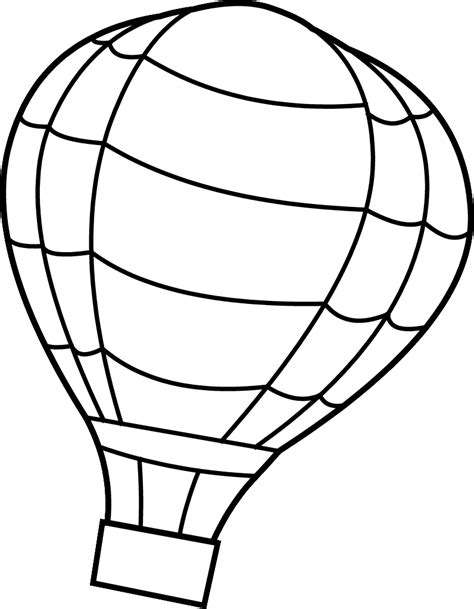 coloring page for hot air balloon hot air balloon printable coloring pages