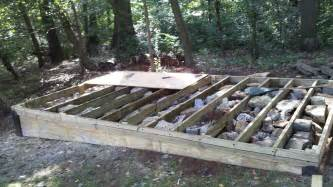 How to build a level shed tiny houses barn foundation platform by