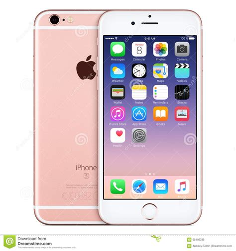 Home Design 3d Gold Ios rose gold apple iphone 6s front view with ios 9 on the