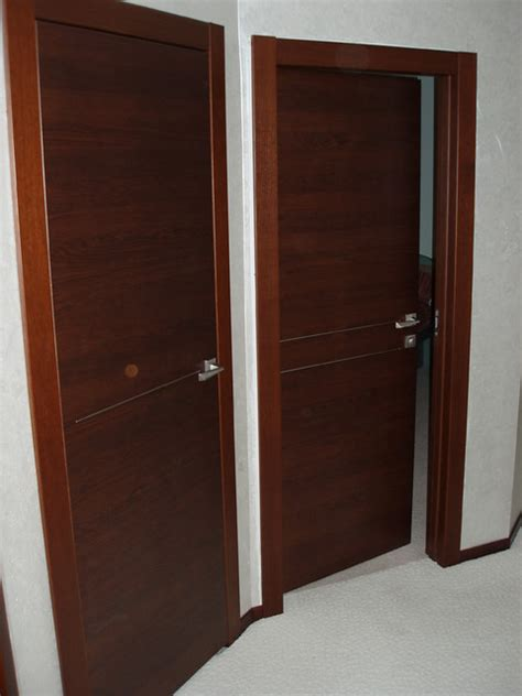 Solid Wood Doors Orizzonte 1f And 2f Models Modern Real Wood Interior Doors