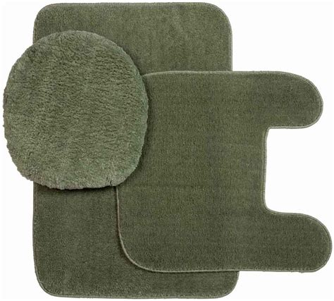 Plush Bathroom Rugs Plush Rug And Lid 3 Pc Bath Set