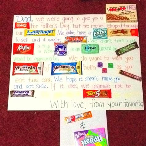 fathers day candy bar card the last line in yellow