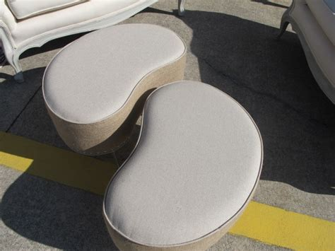 Kidney Shaped Ottomans Oh Yeah Feathering My Nest Kidney Shaped Ottoman