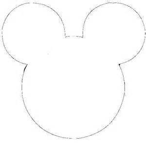 Large Mickey Mouse Template by Mickey Mouse Outline Imagui Cliparts Co