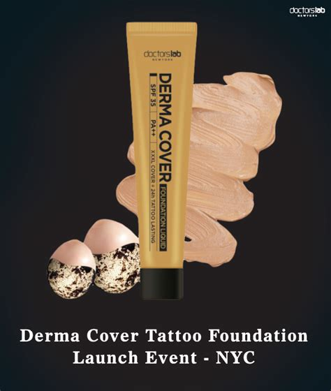 tattoo cover up foundation derma cover foundation launch press release