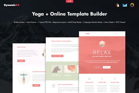 yoga online template builder email templates on