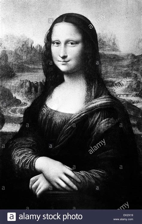 Monalisa Black black and white mona sketch pictures to pin on