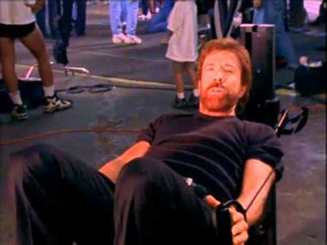 chuck norris on the set with total