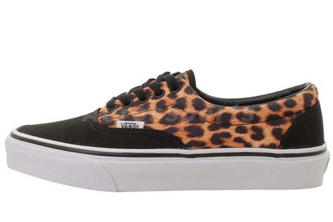 Vans Era Leopard Black vans era black leopard mens womens classic skate casual