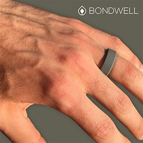 BONDWELL Silicone Wedding Ring for Men Save Your Finger