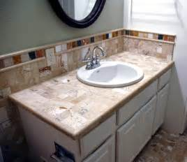 Bathroom Tile Countertop Ideas by Travertine Bathroom Countertops Bathroom Design Ideas