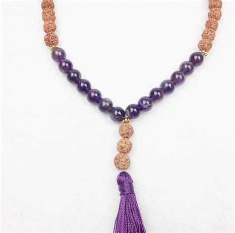 amethyst mala amethyst mala bead necklace accessories activated living