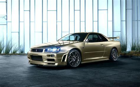 golden cars wallpaper nissan skyline r34 golden car wallpaper cars wallpaper