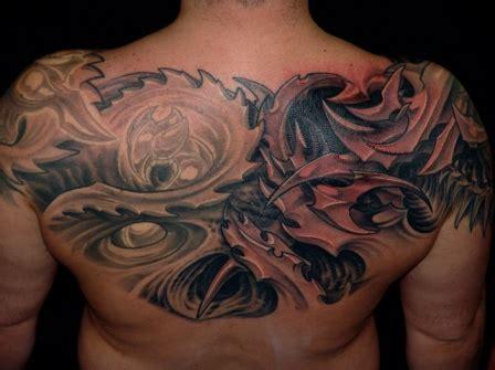 biomechanical tattoo upper back biomechanical tattoo images designs
