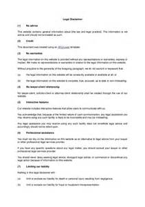 disclaimer form template disclaimer template hashdoc