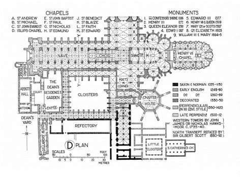 monastery floor plan floor plan of westminster abbey from fletcher banister