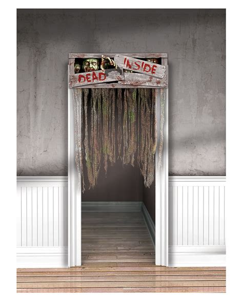 halloween door curtain halloween door curtain quot dead inside quot gruseldeko for
