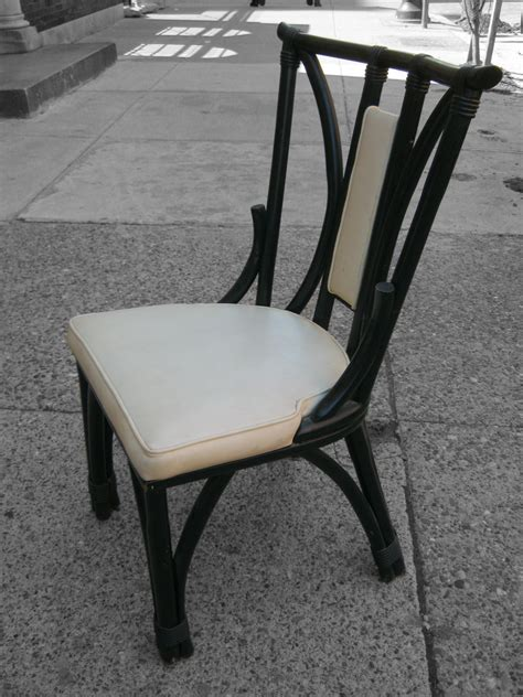 uhuru furniture collectibles black rattan dining chair