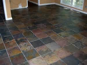 Edge brick pattern 12 quot x12 quot multicolor slate tile basement floor