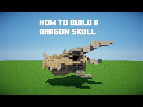 how to build a custom house minecraft tutorials how to build a dragon skull youtube