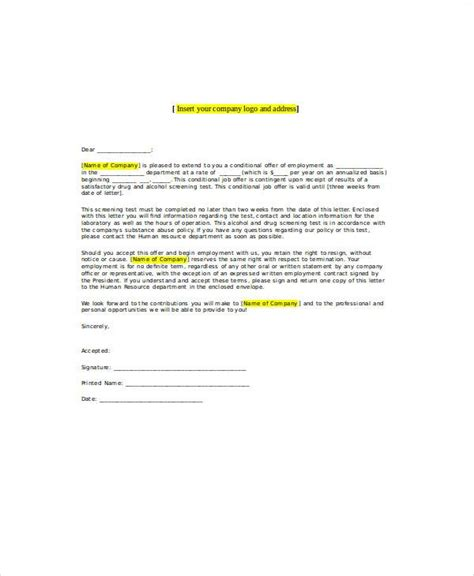 sample employment letter templates ms word
