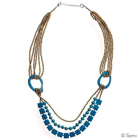 necklaces teal tagua necklace