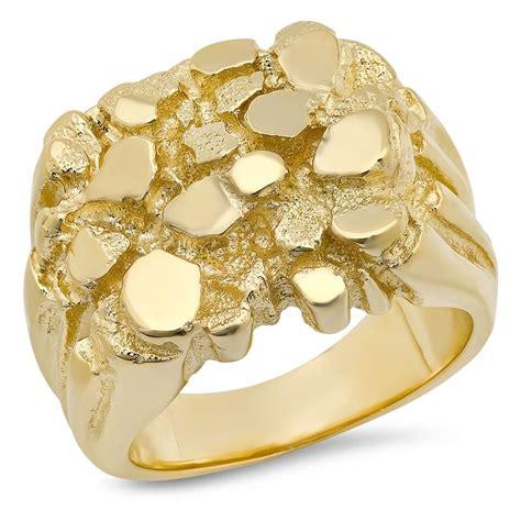 18k gold mens 15mm x 20mm nugget ring sarraf
