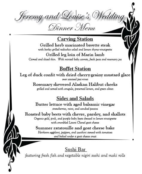 gluten free buffet menu the 5 things that made my paleo gluten free wedding a success